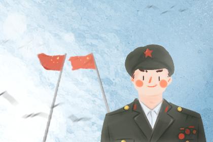 2019年最新筑军节简笔画除夕齐