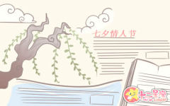 2019年关于七夕节的手抄报合集